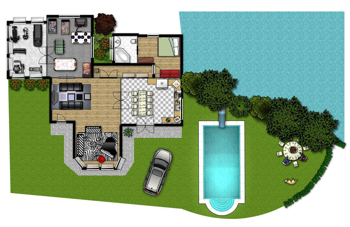 An interactive image for Pianta di una casa