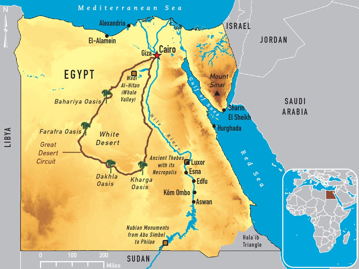 The Nile River Valley Was An Ideal Place For Civilization - Nile river map world atlas