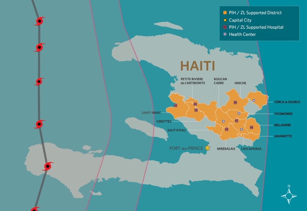 Haiti Map Of World.Hurricane Matthew Devastates Southern Haiti Partners In Health