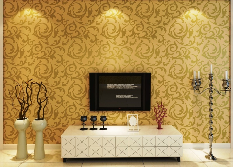 Wall Putty Colour Design : Wall papers are one of the most convenient and easiest wa