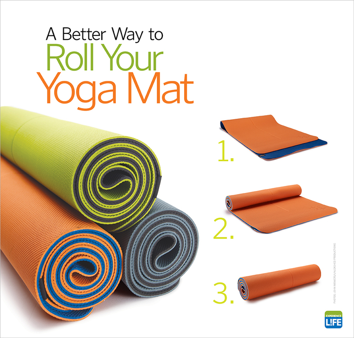 A Better Way To Roll Your Yoga Mat Experience Life