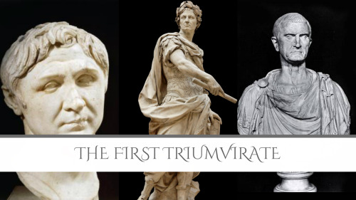 the first triumvirate First triumvirate's wiki: the first triumvirate is a term historians use for an informal political alliance between three prominent men of the late roman republic: julius caesar, pompey the.