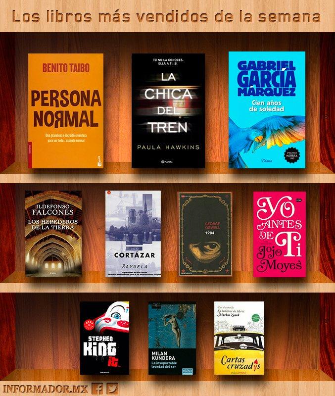 Los libros más vendidos de la semana 1 al 8 de octubre