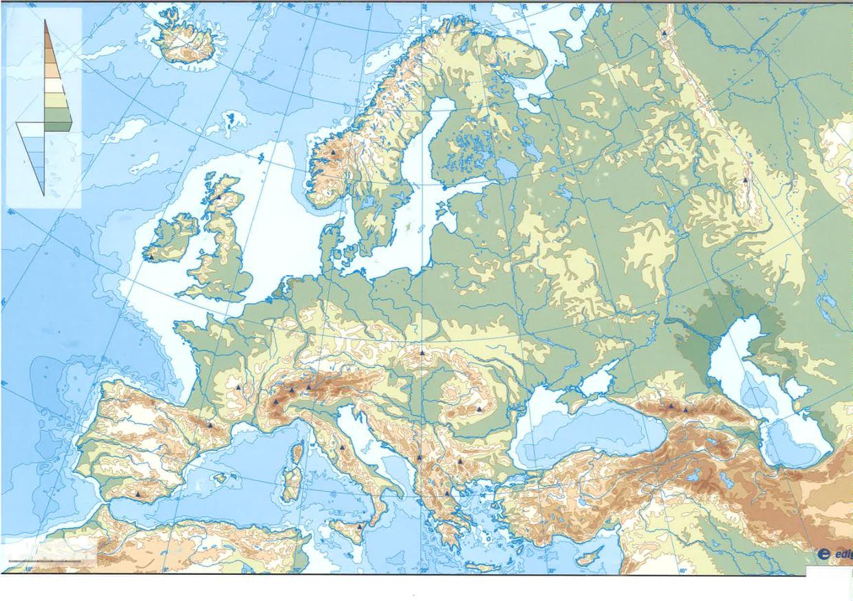 Mapa Fisic D Europa Rius.Mapa Fisic D Europa Laura Godia I David Godia