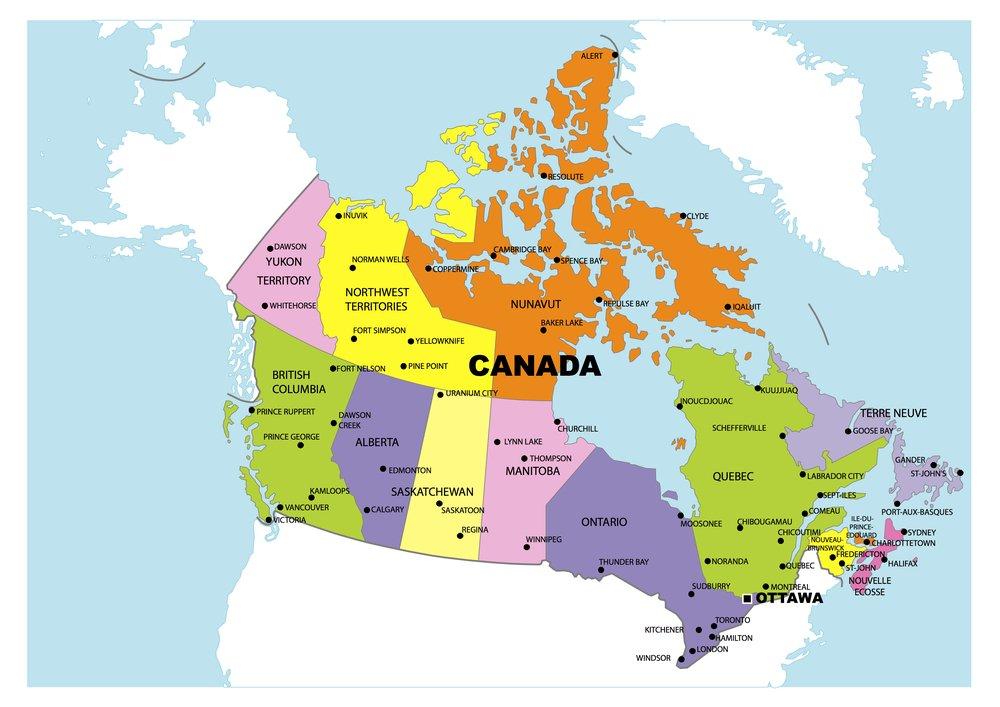 Map 0f Canada 25 Best Canada Hd Map