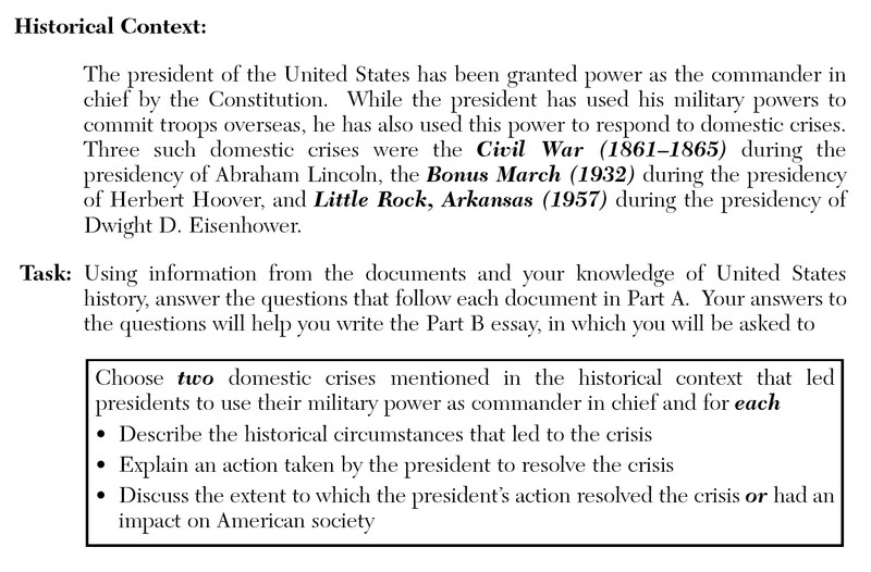 american history essay questions and answers Fun history trivia questions and answers with topics such as the dow jones, christopher columbus, mexico's independence, south vietnam, million man march, rasputin.