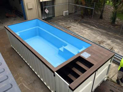 shipping container pool. Black Bedroom Furniture Sets. Home Design Ideas