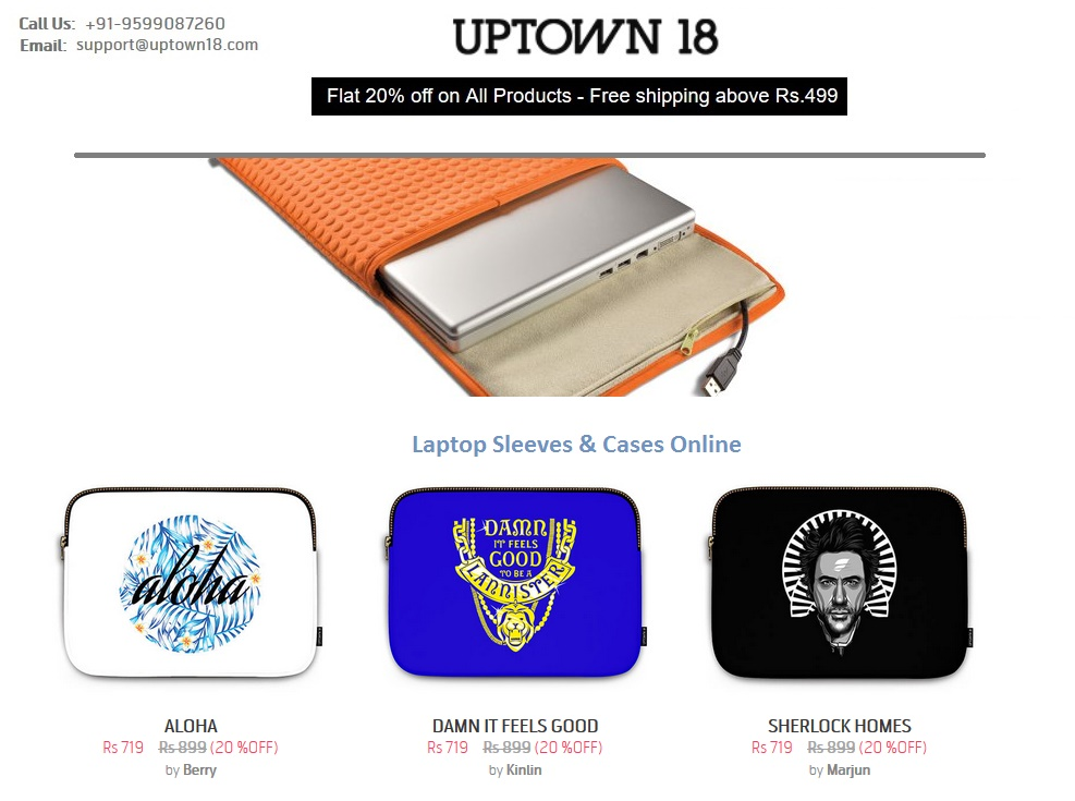Buy Designer Laptop Sleeves & Cases Online - Uptown18
