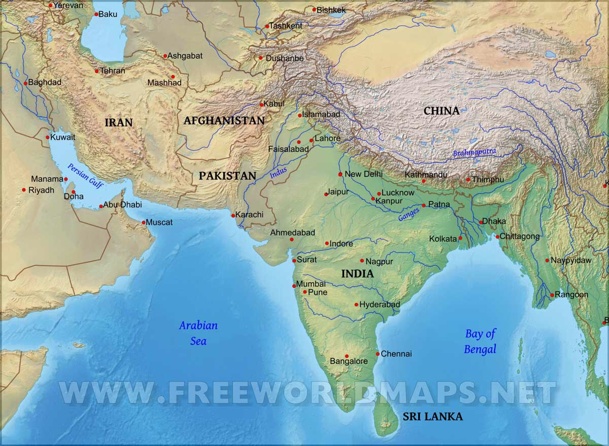 Geography of South Asia ThingLink
