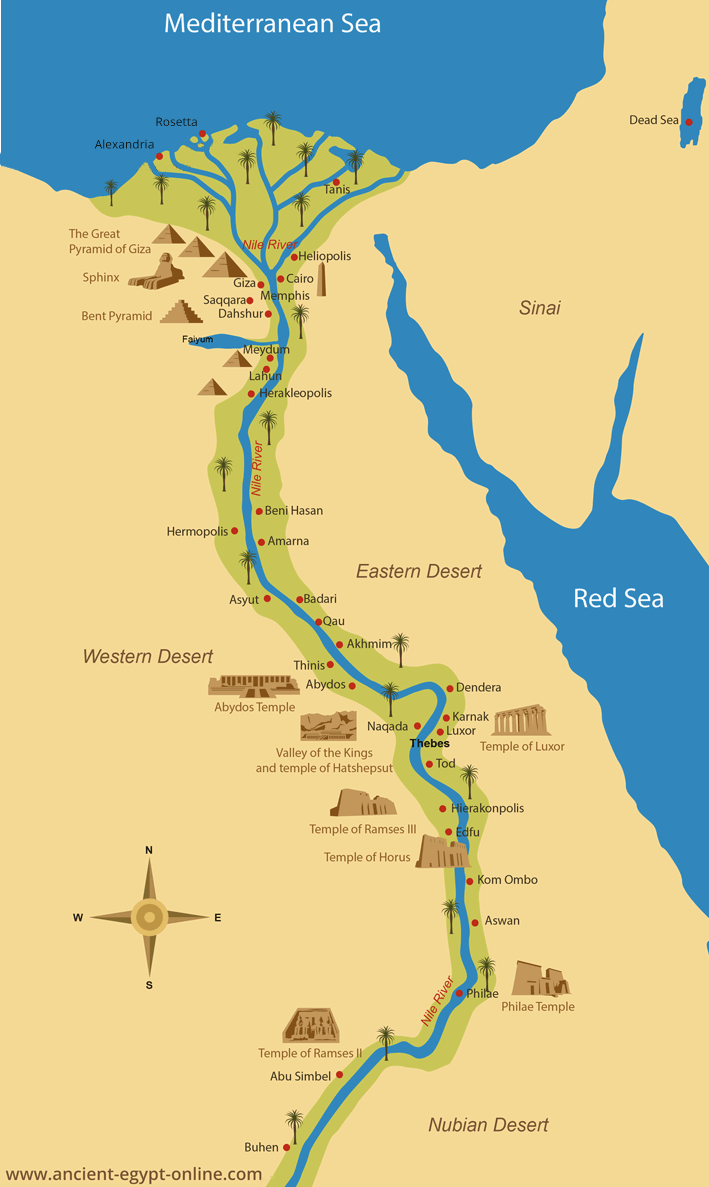 Explore Ancient Egypt ThingLink - Map of egypt valley of the kings