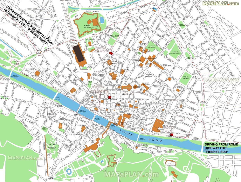 Cartina Citta Firenze.Mappa Citta Firenze