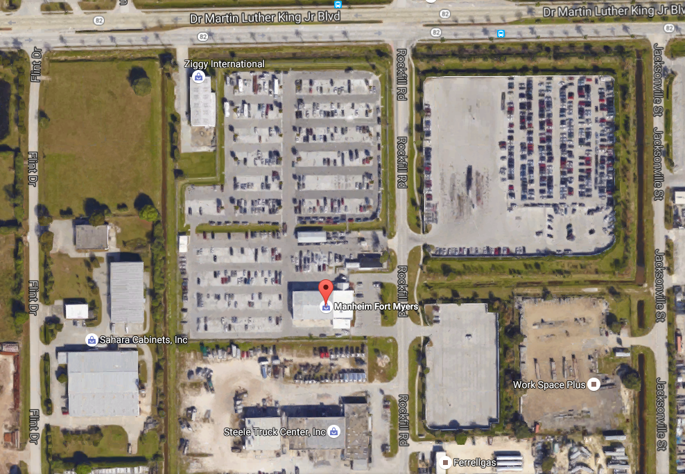 Manheim Fort Myers Lot Map