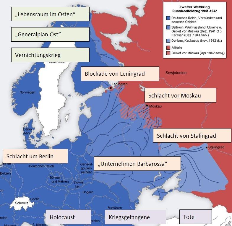 Stalingrad Karte Europa.Vernichtungskrieg Der Deutsch Sowjetische Krieg Segu Geschichte