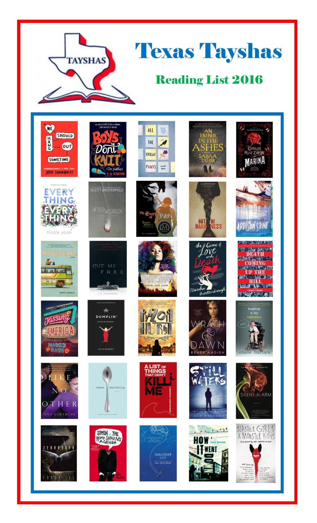 Tayshas Reading List 8th Grade Book Recommendations Neisd