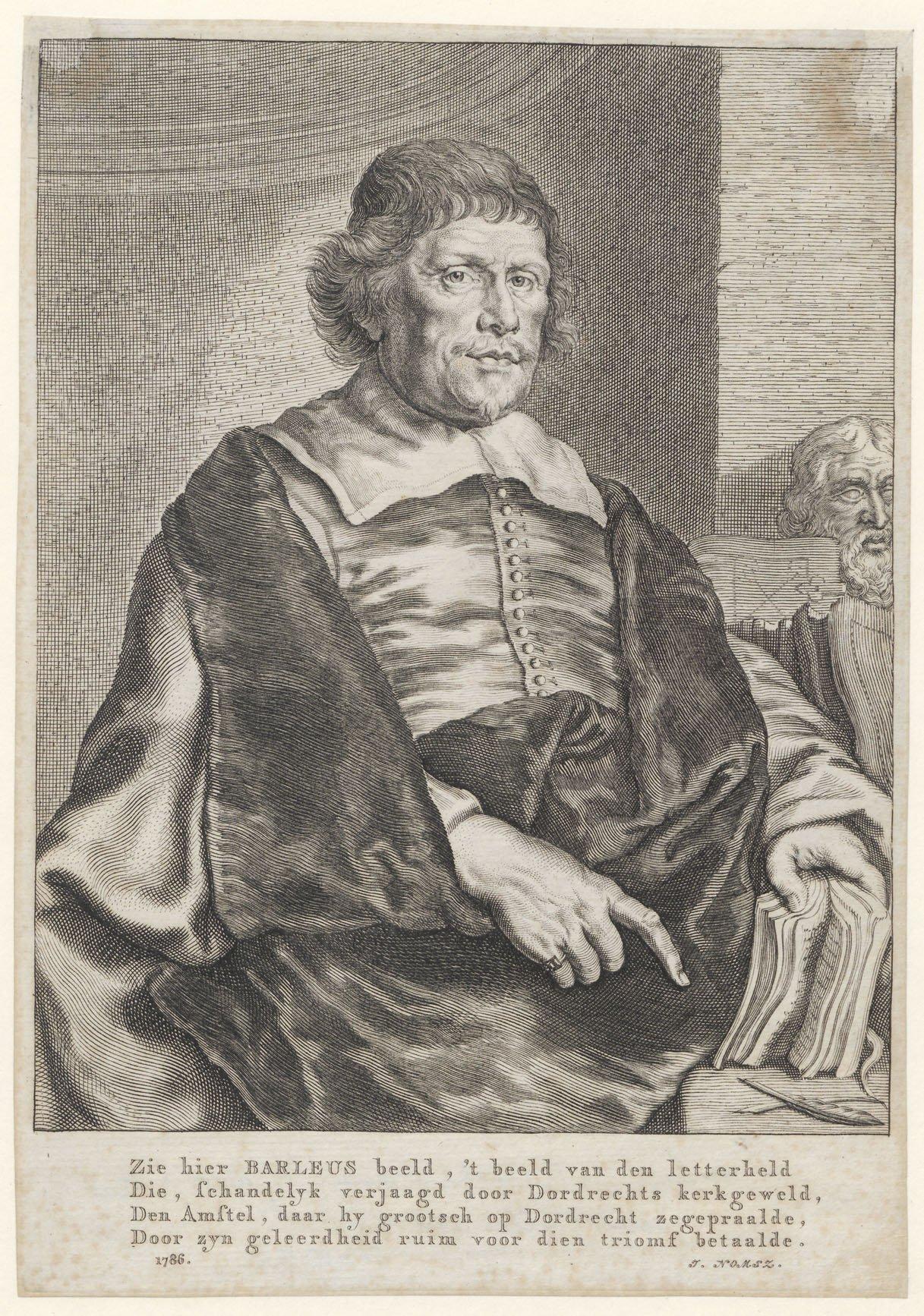 Caspar Barlaeus (1584-1648) schreef het rondschrift