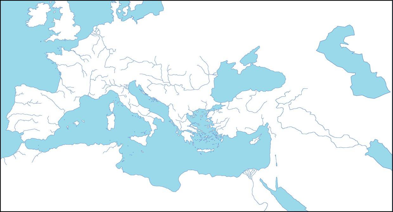 Rome, Mediterranean Sea , Alps Mountains, Spain, France, ...