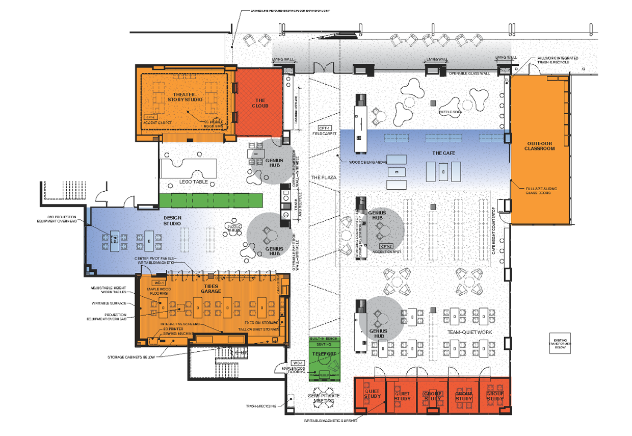 Featured Spaces in the New Kovler Family Library