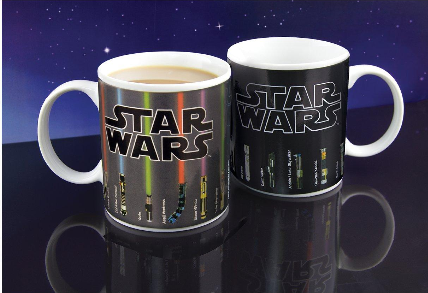 star wars lightsaber colour changing mugs