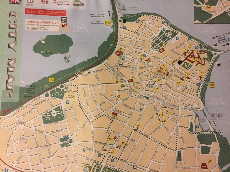 Cartina di Mantova