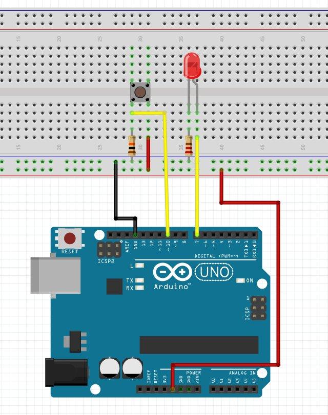 Basic LED & Push Button Circuit explained