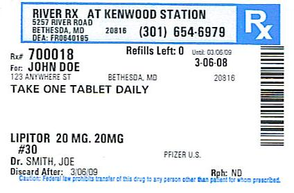 Medication Label Description