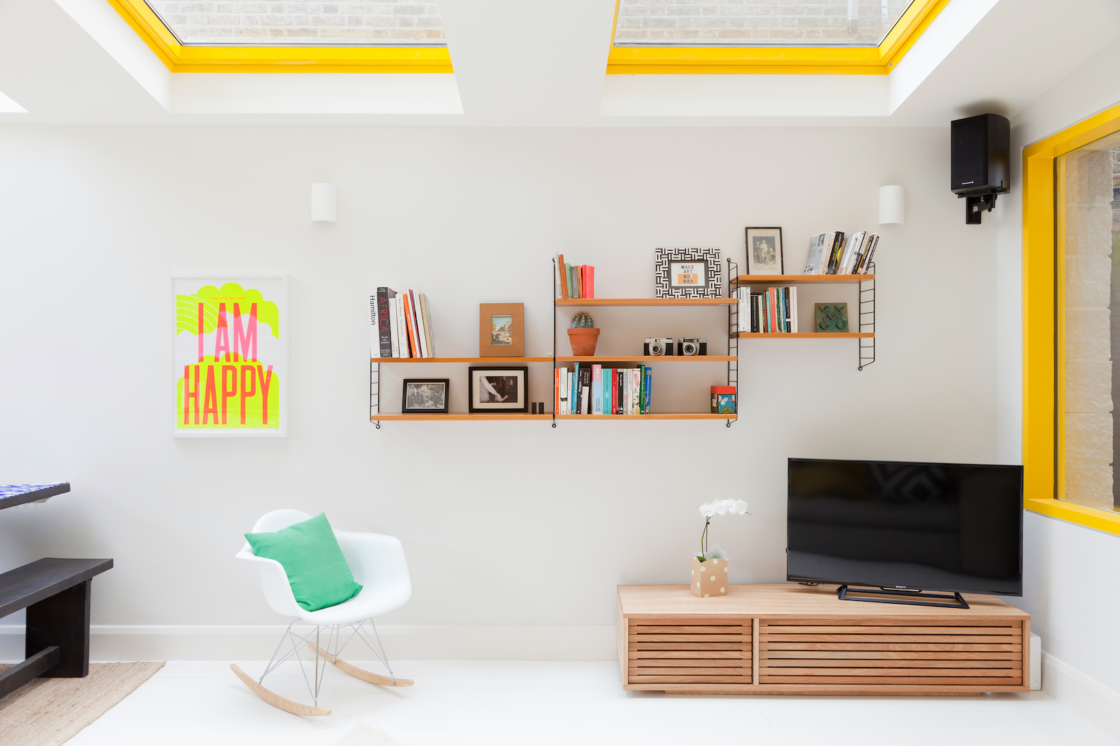 Yellow House living room by nimtim architects
