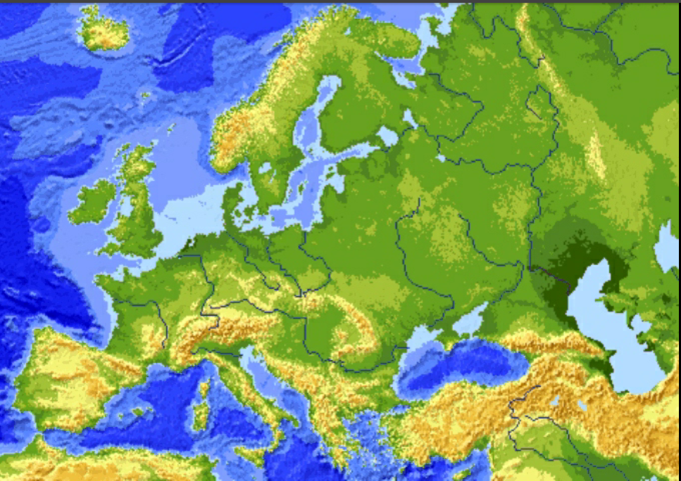 Cartina Muta Dell Europa Fisica.L Europa Fisica E Politica Lessons Tes Teach