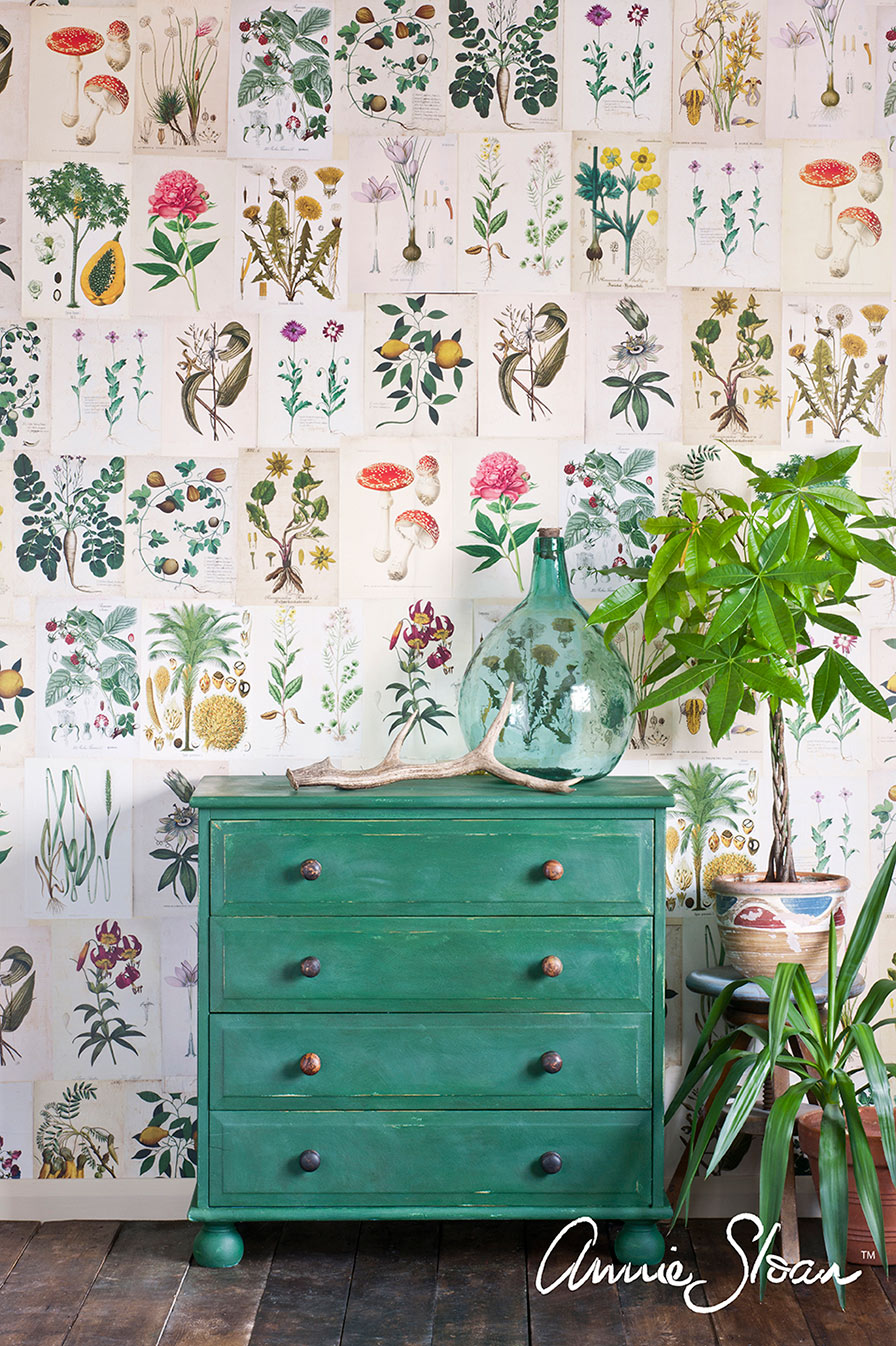 Dresser painted in Amsterdam Green