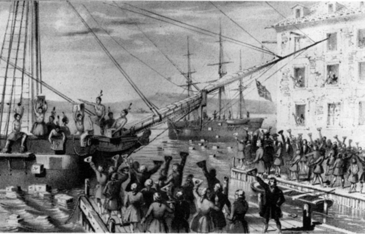 The Boston Tea Party of 1773 UNFINISHED POVS  ThingLink