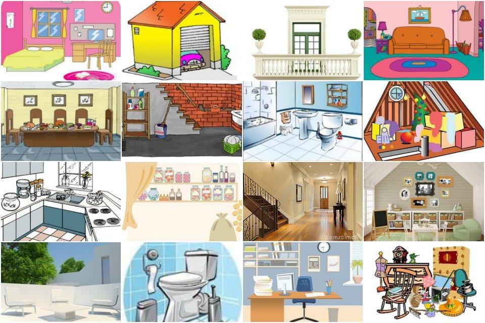 les pi ces de la maison image interactive et applications en ligne une tasse de fle. Black Bedroom Furniture Sets. Home Design Ideas