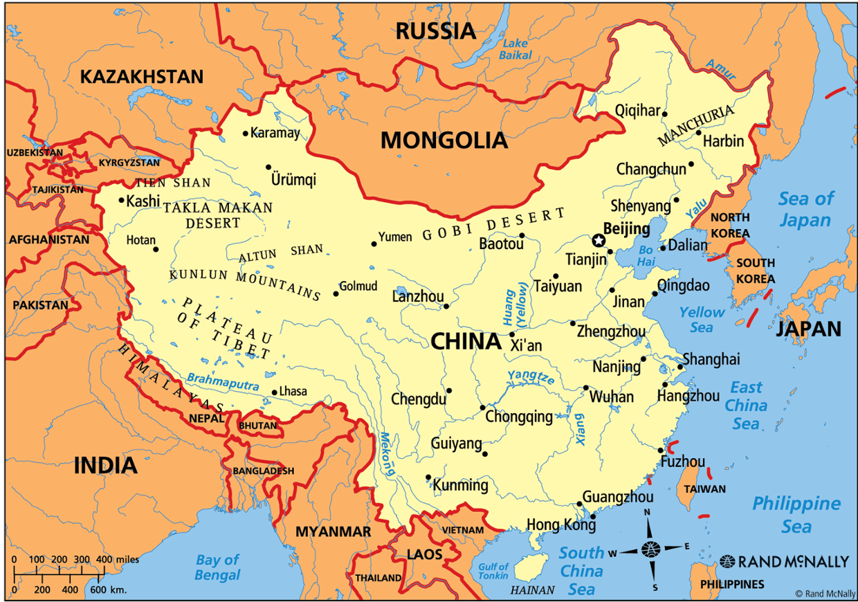 map of china with geographic features China S Geography Features map of china with geographic features