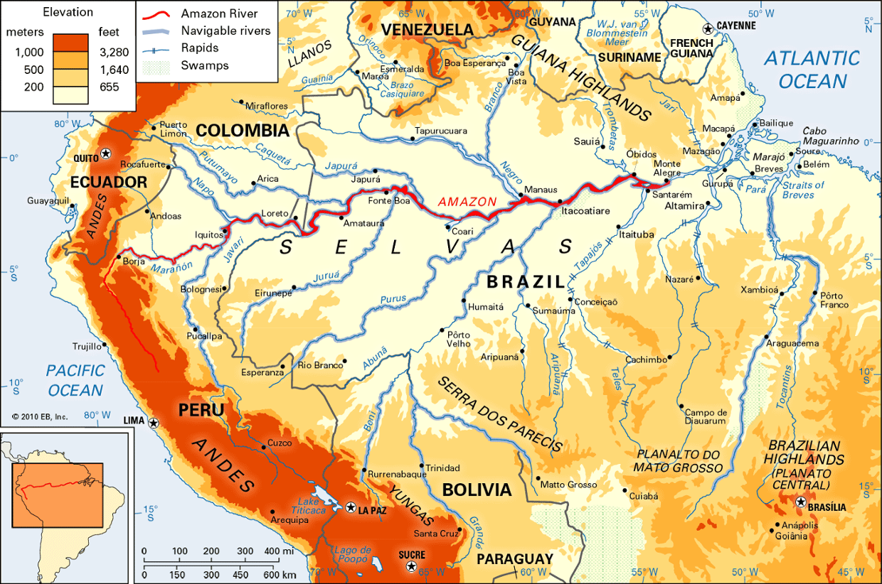 Remix Of Amazon River Map ThingLink - Map of south america amazon river