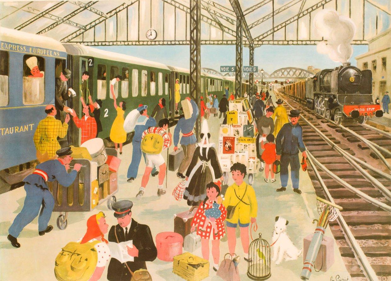 SoufFle sur le train, la gare, le voyage en train