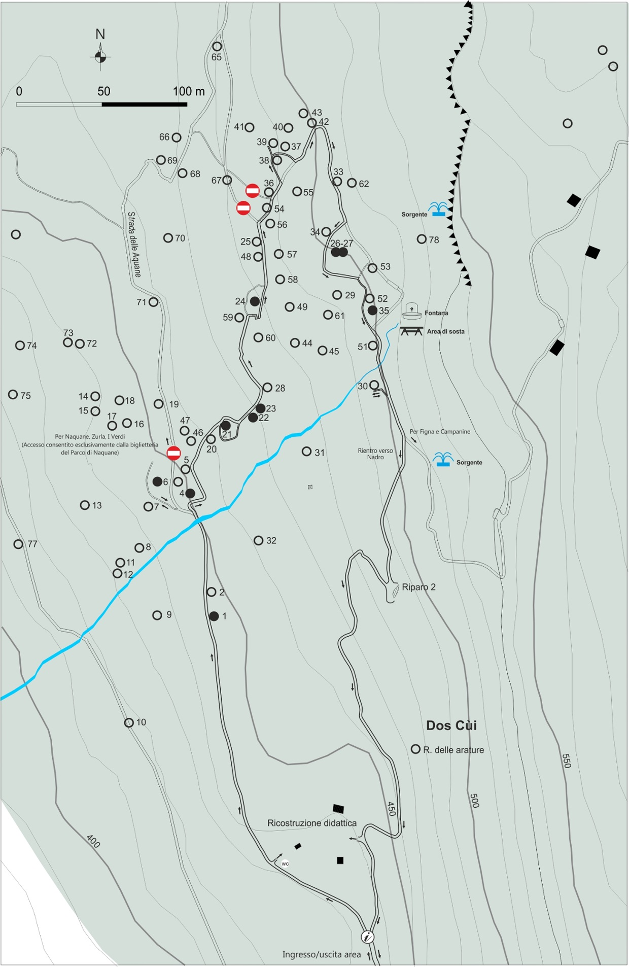 Foppe di Nadro - percorso di visita all'arte rupestre
