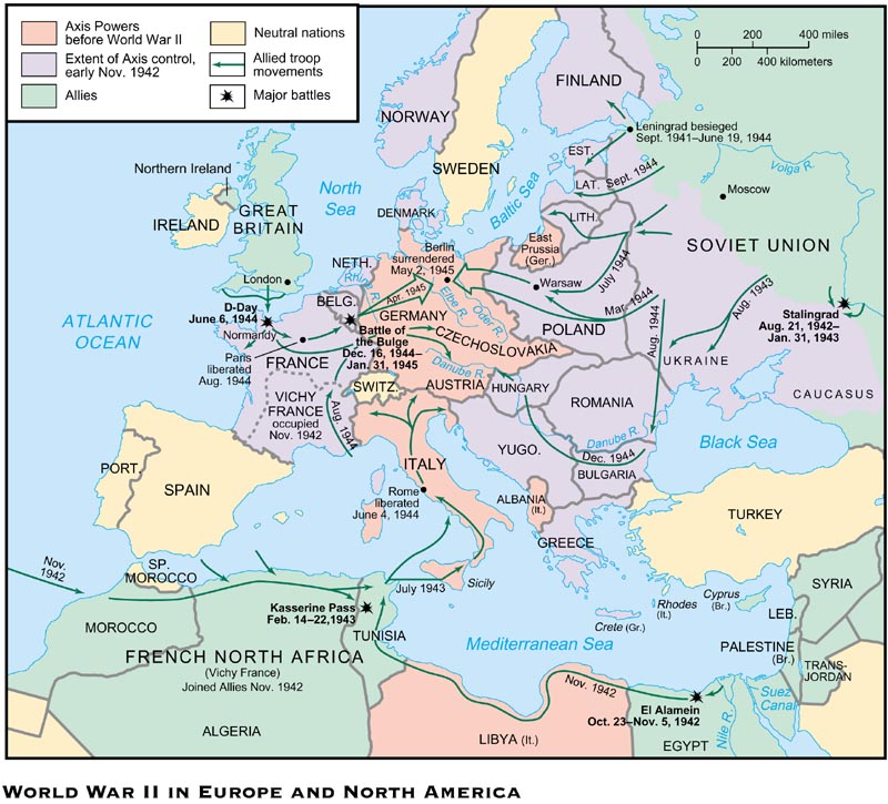 WWII  North Africa and Europe  ThingLink
