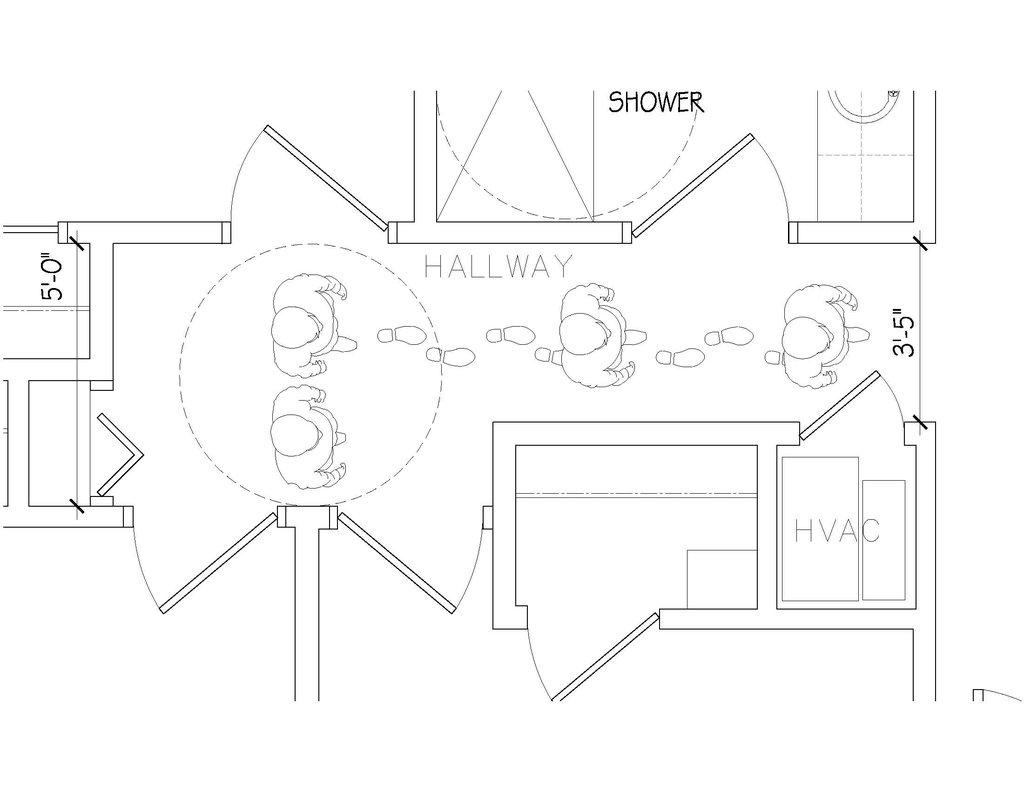 Design challenge toolkit hallway design for Handicap hallway width
