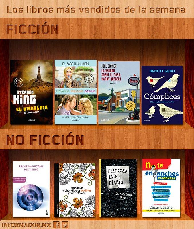 Los libros más vendidos de la semana 31dic al 7ene