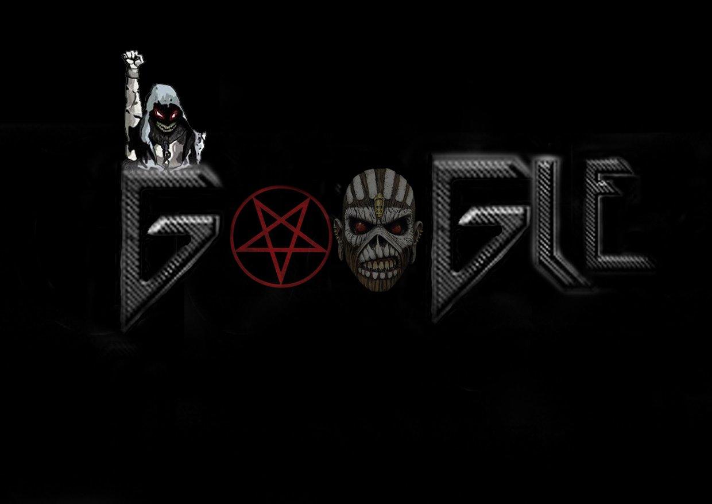 Metal band google doodle by Aron Clark