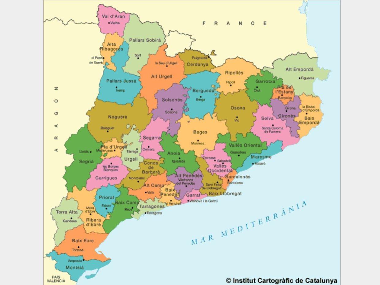 mapa de catalunya Mapa Catalunya