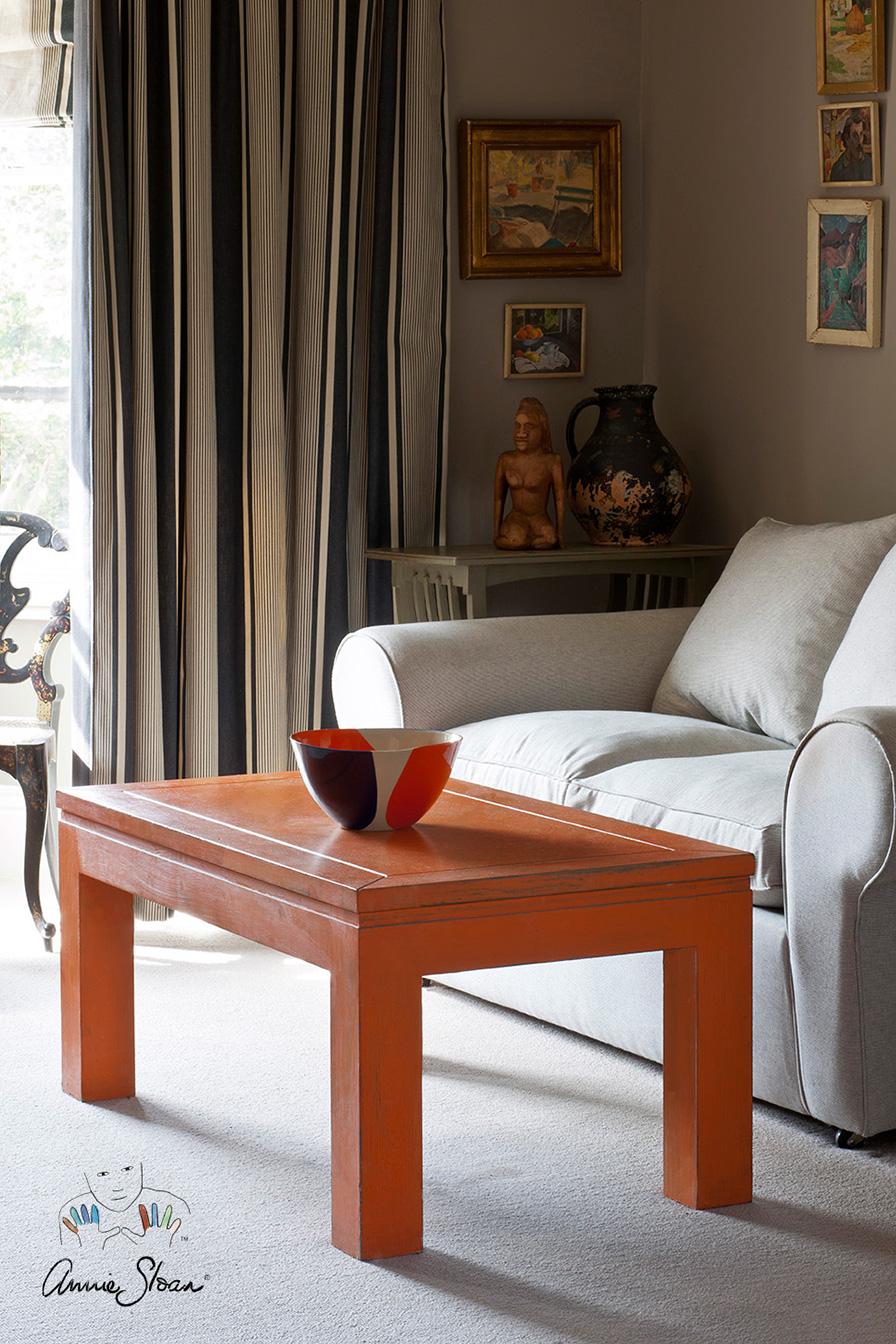 Inspiration annie sloan barcelona orange coffee table geotapseo Image collections