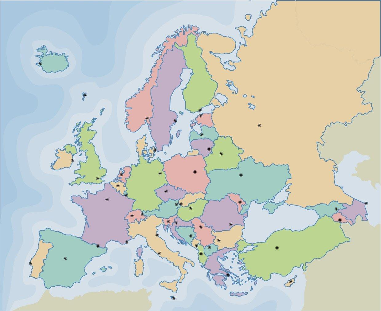 Politico Mapa Europa Con Capitales.Europa Sus Capitales Y Personas Reconocidas