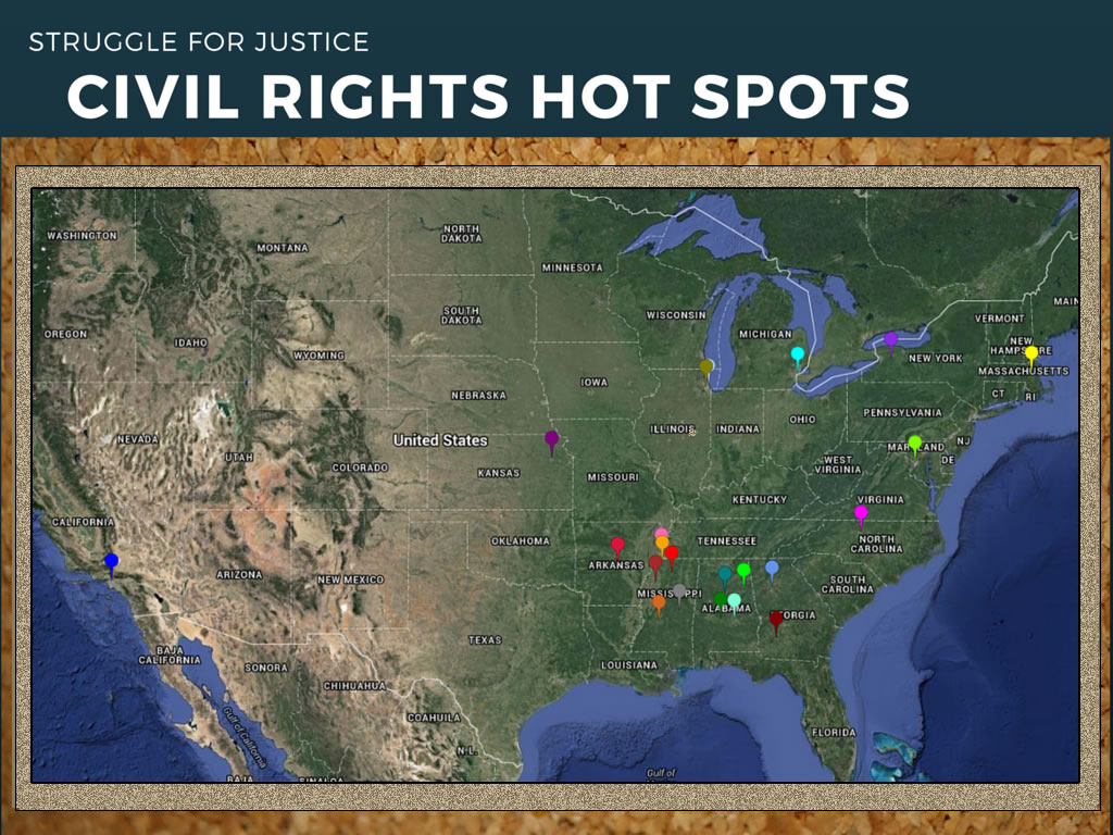 """Civil Rights Hotspots"" by Susan Oxnevad"