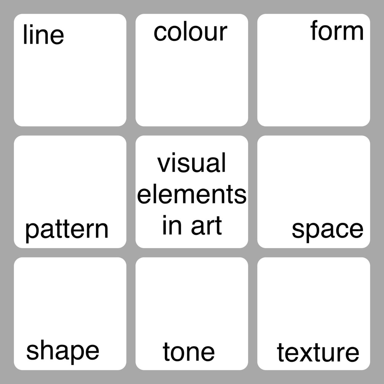 visual elements in art