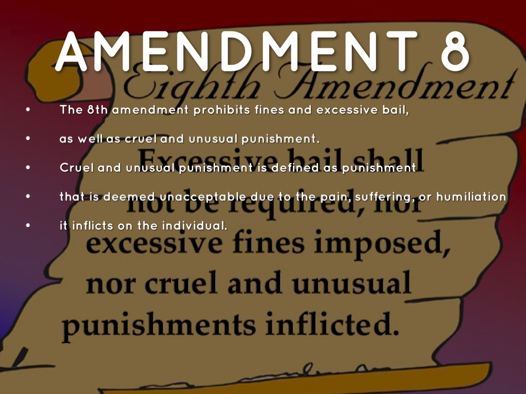 Excessive bail cruel punishment