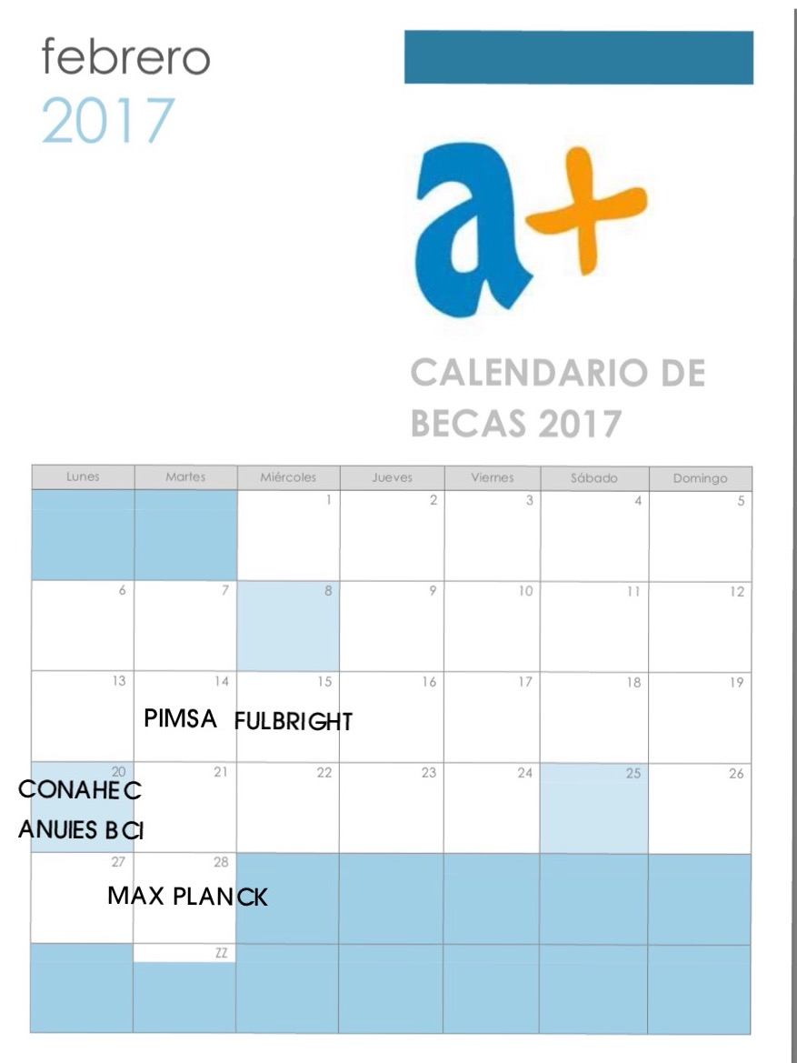 CALENDARIO BECAS 2017