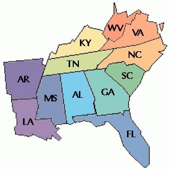 Southeast region statesabbreviationsand capitals.By:GavinG