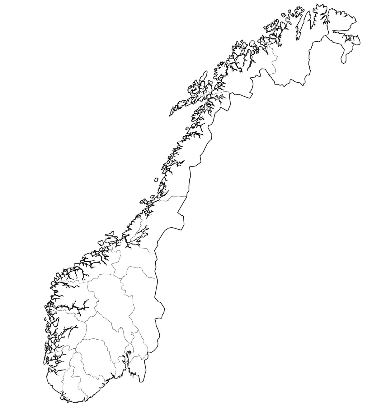 norjan kartta Norjan kartta