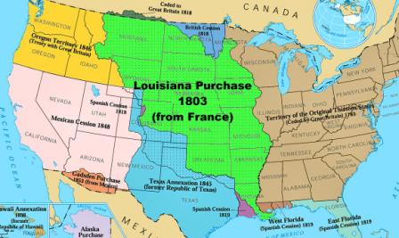 The louisiana purchase thomas jefferson bought for 15 mil