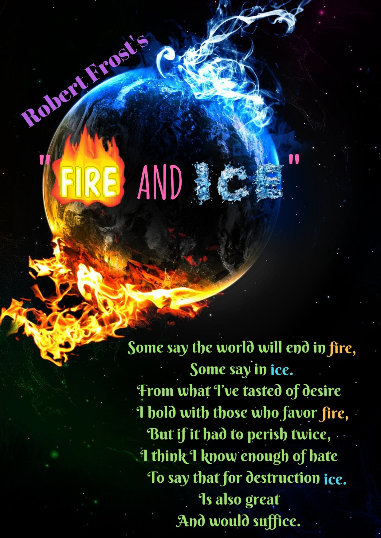 fire and ice poem meaning by robert frost