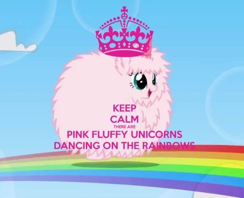 Pink fluffy unicorns dancing on
